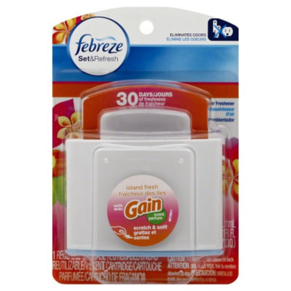 Febreze Small Spaces Febreze SmallSpaces with Gain Island Fresh Scent Starter Kit Air Freshener (1 Count, 5.5 mL) Air Care