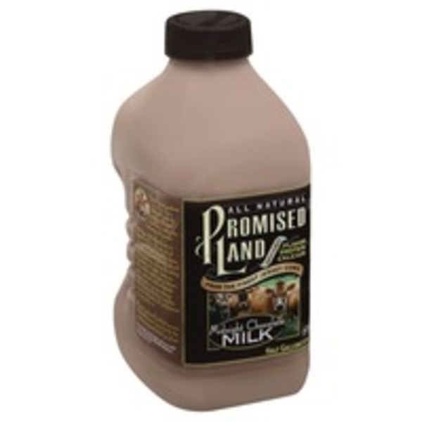 Promised Land Milk, Midnight Chocolate, All Natural, Bottle
