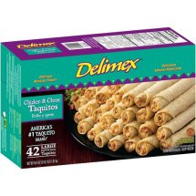 Delimex Chicken & Cheese Taquitos, 42 taquitos