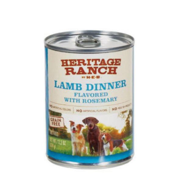 H-E-B Heritage Ranch Lamb Dinner Flavored With Rosemary Dog Food