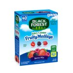 Black Forest Juicy Center Fruit Medleys Fruit Flavored Snacks, Berry Mix Flavors, 0.8 Ounce Bag, Pack of 40