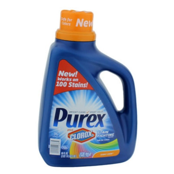 Purex Liquid Detergents Plus Clorox2 Stain Fighting Enzymes Sunny Linen Laundry Detergent