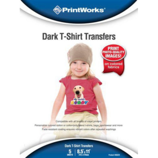 PrintWorks Dark T Shirt Transfers