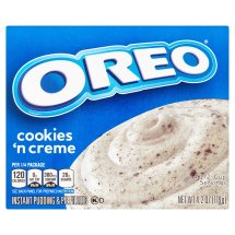 Jell-O Instant Pudding & Pie Filling Oreo Cookies 'N Cream with Cookie Pieces, 4.2 Oz