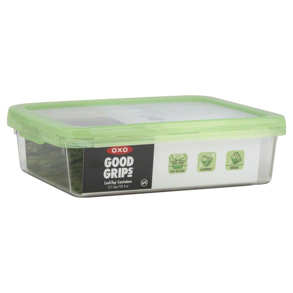 OXO Container, Lock Top, 12.7 Cups/101.4 Oz, Green