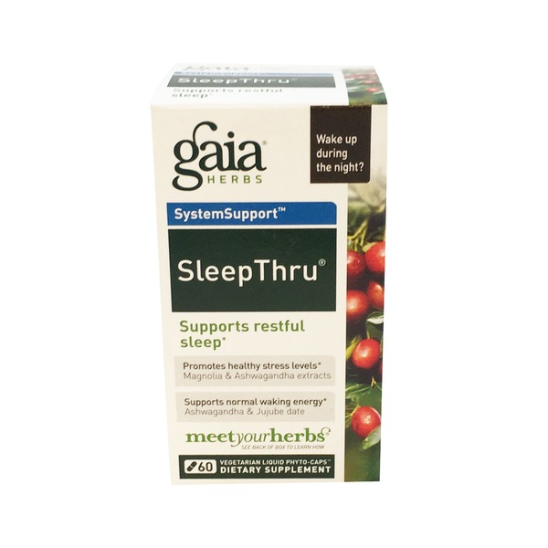 Gaia Herbs SleepThru Liquid Phyto-Caps Vegetarian Dietary Supplement