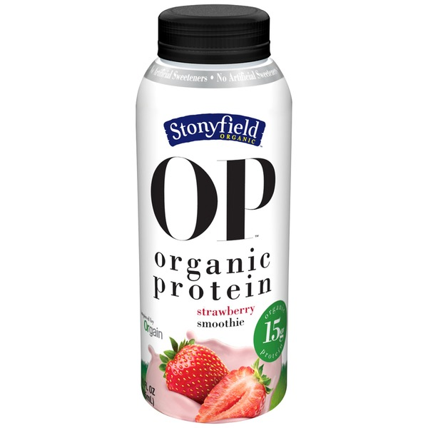 Stonyfield Organic Organic Strawberry Smoothie Protein Shake