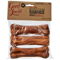 Good Lovin' Beef Flavor Rawhide Dog Bones 6.3 Oz.