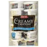 H-E-B Creamy Creations Homemade Vanilla Flavored Ice Cream Cups