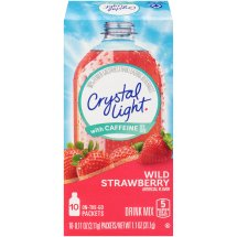 Crystal Light Drink Mix, Wild Strawberry, 1.1 Oz, 10 Packets, 1 Count