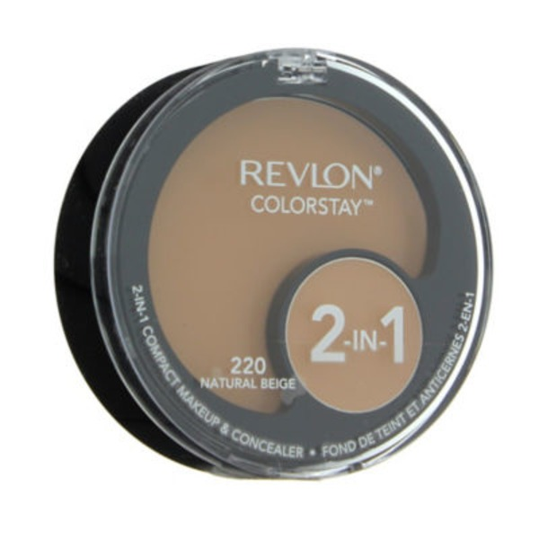 Revlon Color Stay 2 In 1 Compact Makeup & Concealer 220 Natural Beige