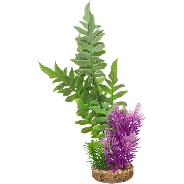 Petco Green & Purple Fiesta Seagrass Plastic Aquarium Plant
