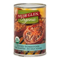 Muir Glen Organic Diced Fire Roasted No Salt Added Tomatoes