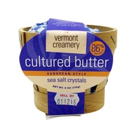 Vermont Creamery European Style Cultured Butter with Sea Salt