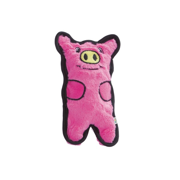 Outward Hound Invincible Mini Pig Dog Toy Dark Pink Mini