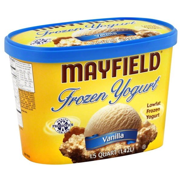 Mayfield Vanilla Lowfat Frozen Yogurt