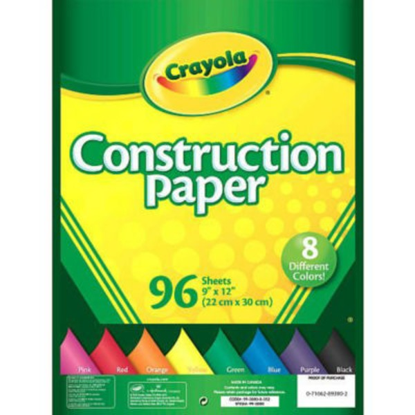 Crayola Construction Paper - 96 Sheets