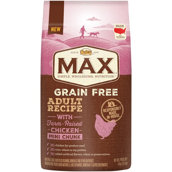 Nutro Max Grain Free Adult Recipe with Farm-Raised Chicken Mini Chunk Dog Food
