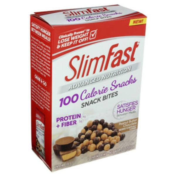 Slimfast Advanced Nutrition 100 Calorie Snacks Peanut Butter Chocolate Snack Bites