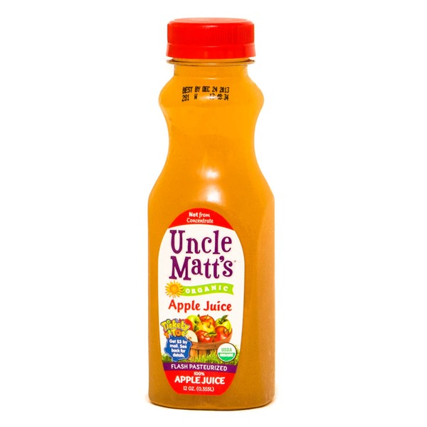 Uncle Matts Organic, Apple Juice, Bottle