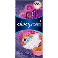 Always Radiant Always Radiant Overnight with wings scented Pads 11 count Feminine Care