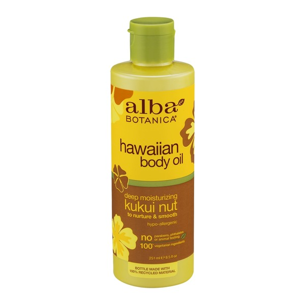 Alba Botanica Hawaiin Body Oil Kukui Nut