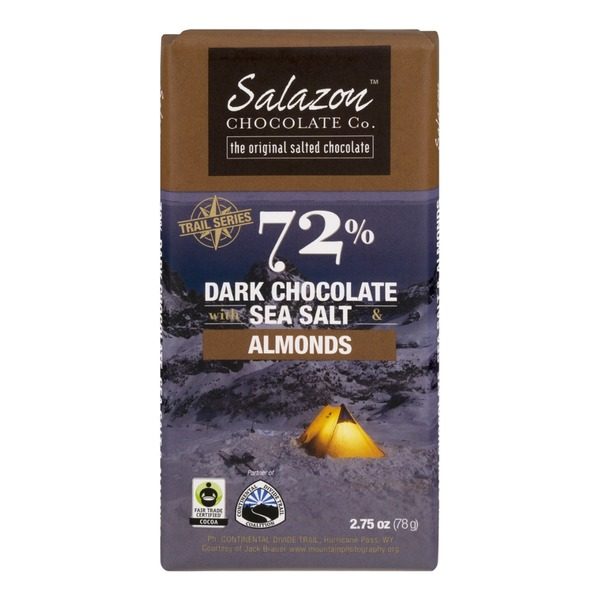 Salazon Chocolate Co. 72% Dark Chocolate With Sea Salt & Almonds
