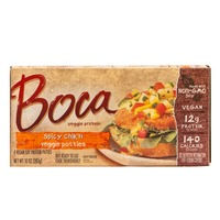 Boca Spicy Chik'n Made with Non-GMO Soy Vegan Soy Protein Patties