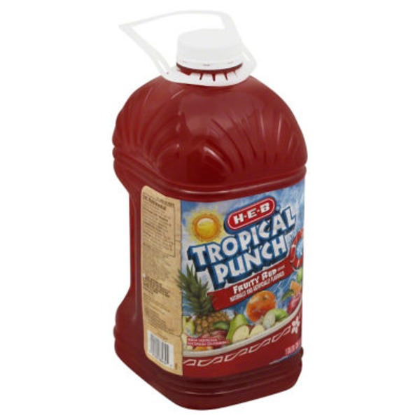 H-E-B Fruity Red Tropical Punch Drink