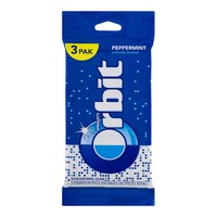 Orbit Wrigley's Orbit Peppermint Sugar Free Gum- 3 PK
