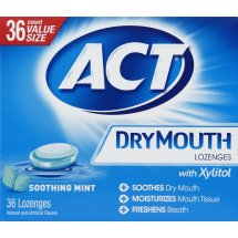 ACT Dry Mouth Soothing Ming Lozenges with Xylitol, 36ct
