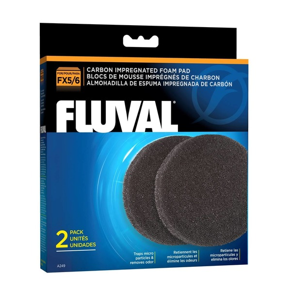 Fluval For Fx5/6 Carbon Impregnated Foam Pads