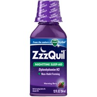 Zzzquil Nighttime Sleep-Aid Liquid Warming Berry Flavor 12 Fl Oz Misc Personal Health Care