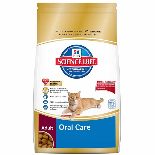 Hill's Science Diet Chicken Recipe Oral Care Dry Adult Cat Food
