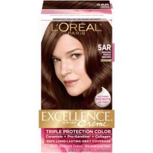 L'Oreal Paris Excellence Creme Hair Color, 5AR Medium Maple Brown, 1 Kit