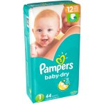 Pampers Baby Dry Diapers, Size 1, 44 Diapers