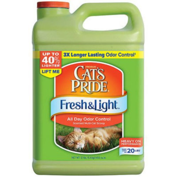 Cat's Pride Fresh & Light All Day Odor Control Scented Multi-Cat Scoop Cat Litter