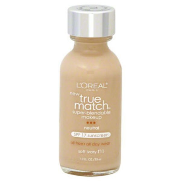 True Match Neutral Soft Ivory N1 Super-Blendable Makeup