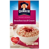 Quaker Oatmeal Strawberries & Cream Instant Oatmeal