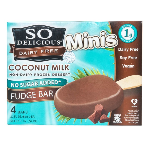 So Delicious Dairy Free Coconutmilk No Sugar Added Fudge Bar