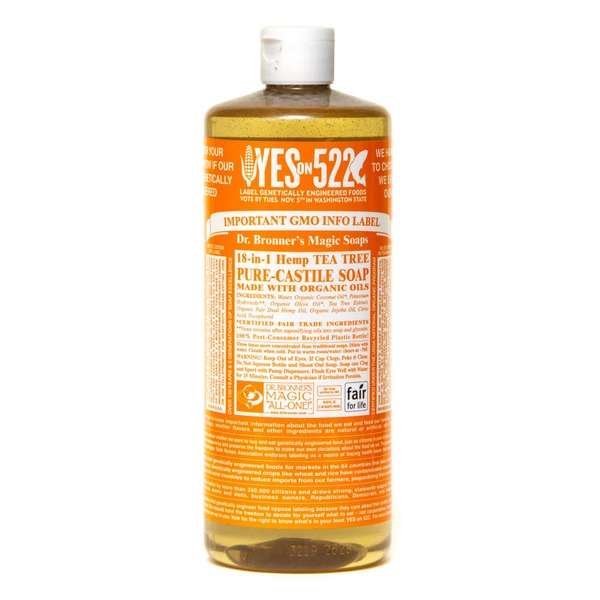 Dr. Bronner's All-One! Dr. Bronner's 18-In-1 Hemp Tea Tree Pure-Castile Soap