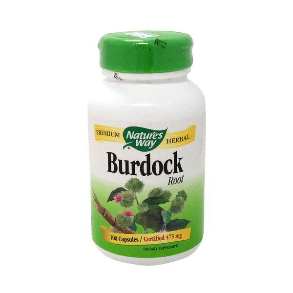 Nature's Way Burdock Root, 475 mg, Capsules