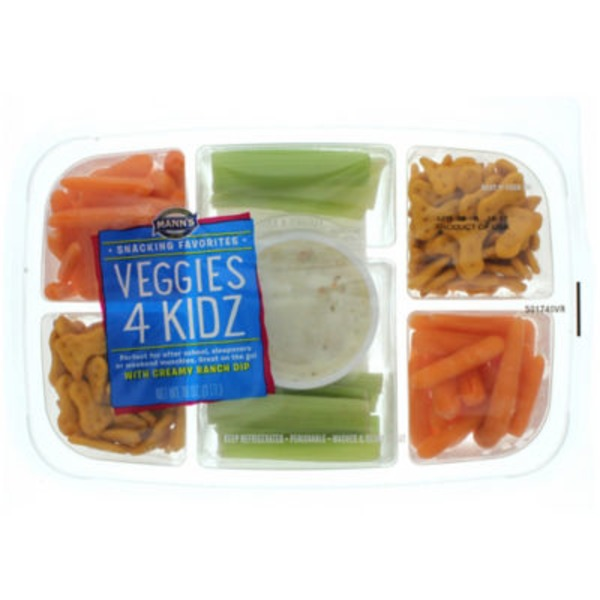 Mann's Snacking Favorites Veggies 4 Kidz Tray