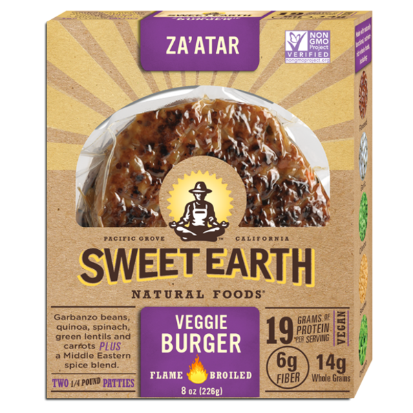 Sweet Earth Za'atar Veggie Burger