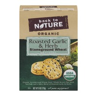 Back to Nature Organic Stoneground Wheat Crackers Roasted Garlic & Herb