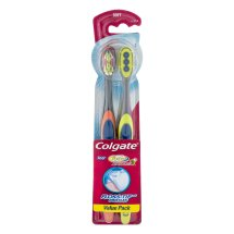 Colgate 360 Total Advanced Floss-Tip Slim Toothbrush, Soft - 2 Count