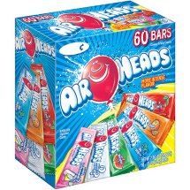 Airheads, Assorted Flavors Bars, 0.55 Oz, 60 Ct