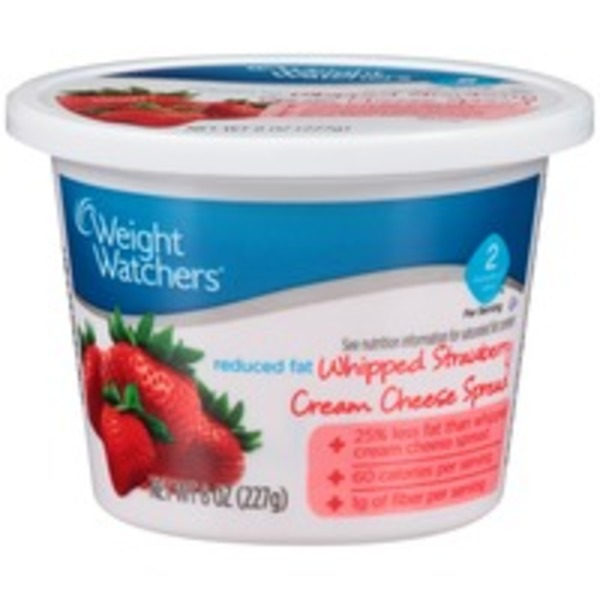 Weight Watchers Reduced Fat Whipped Strawberry Cream Cheese Spread