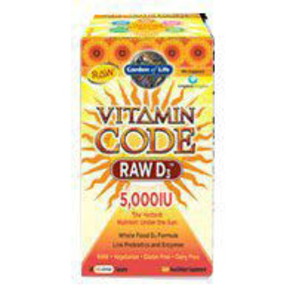 Garden of Life Vitamin Code Raw D3 5000 IU