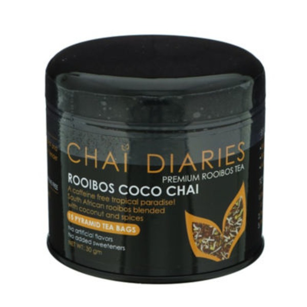 Chai Diaries Rooibos Coco Chai Roobios Herbal Tea Bags